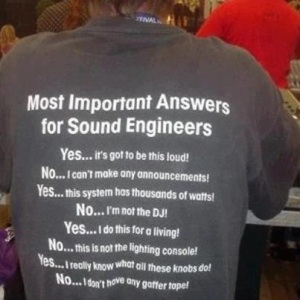 Sound Engineers T-shirt
