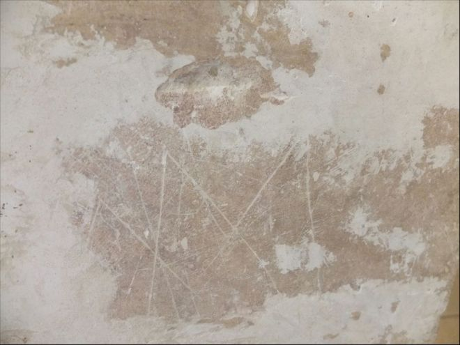Marian WITCH MARKS offer ritualistic protection to a bed chamber at Chateau de Brametourte